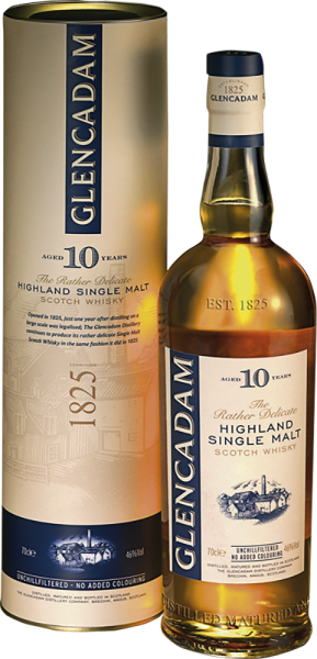 Glencadam Highland Single Malt Whisky 10 Years unchillfiltered