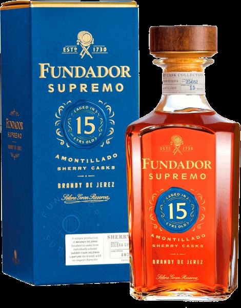 """Brandy de Jerez """"Fundador Supremo"""" Solera Gran Reserva 15 YO"""