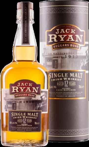 Jack Ryan Beggars Bush Irish Single Malt Whiskey Aged 12 Years