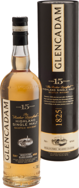 Glencadam Highland Single Malt Whisky 15 Years unchillfiltered