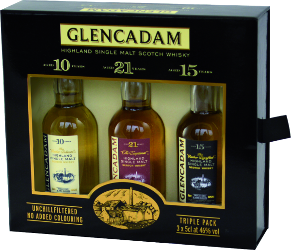 Miniatur Glencadam Single Malt Whisky Tri-Pack