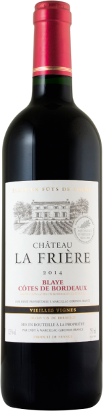 Château La Frière Vieilles Vignes Blaye Côtes de Bordeaux