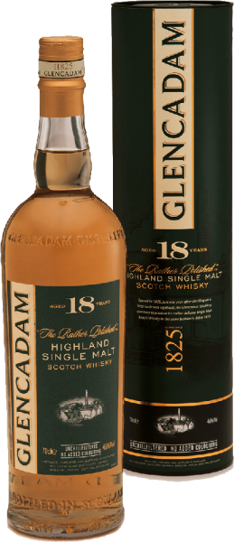 Glencadam Highland Single Malt Whisky 18 Years