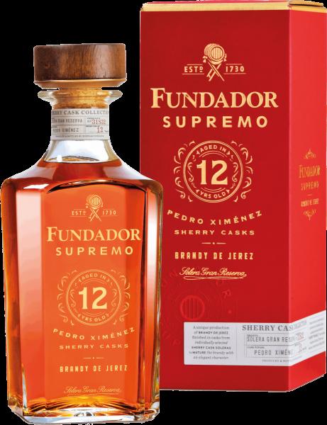 """Brandy de Jerez """"Fundador Supremo"""" Solera Gran Reserva 12 YO"""